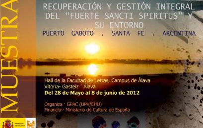Exposición en el campus de Álava del proyecto del Fuerte Sancti Spiritus