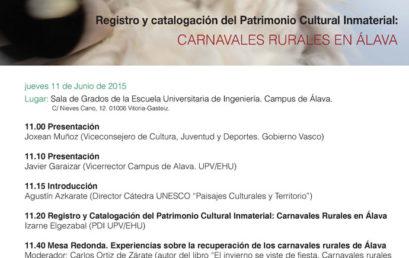 Jornadas sobre Registro y Catalogación del Patrimonio Cultural Inmaterial