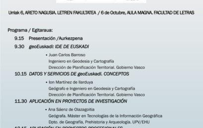 Jornada científica en la facultad de Letras UPV/EHU