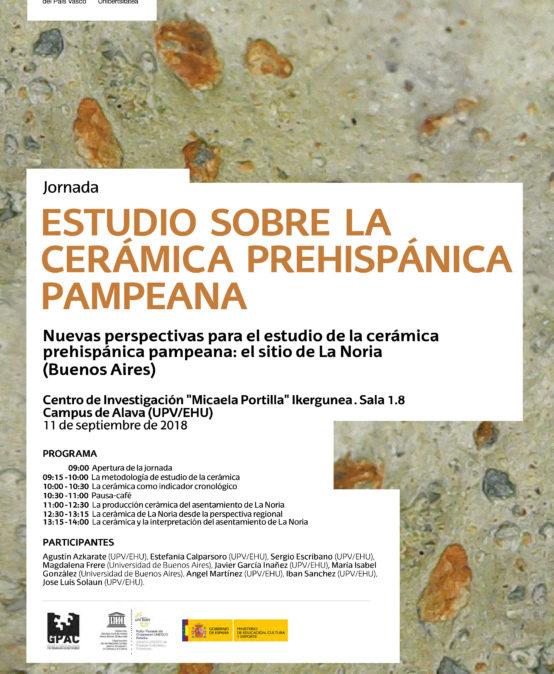 Jornada de estudio sobre la cerámica prehispánica pampeana: el sitio de La Noria (Buenos Aires)