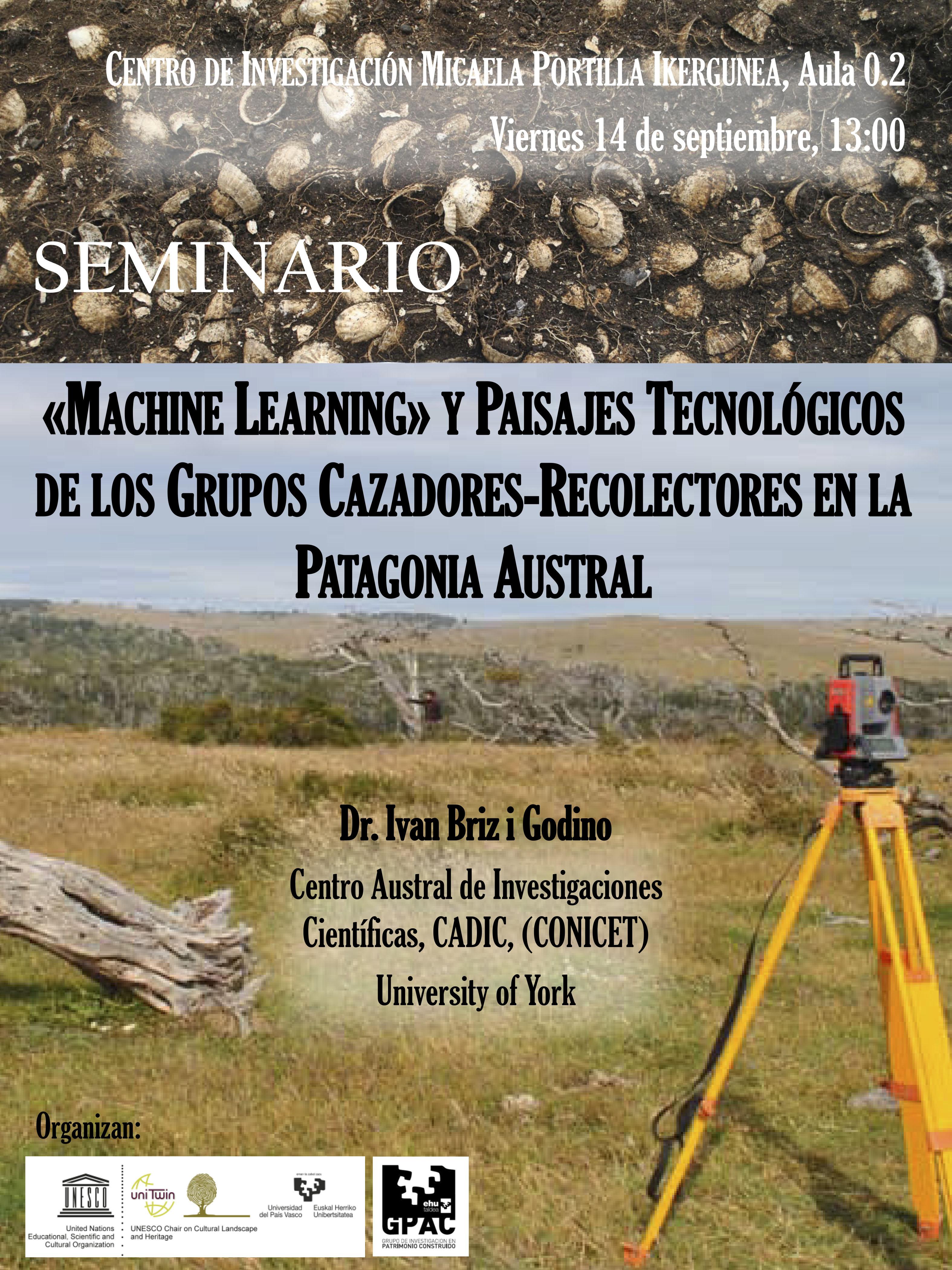 Seminario «Machine Learning» y Paisajes Tecnológicos de los Grupos Cazadores-Recolectores en la Patagonia Austral