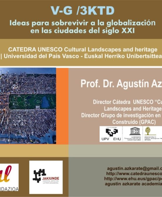 """Conferencia """"V-G / 3KTD (Vitoria-Gasteiz, la ciudad de las 3 catedrales)"""""""