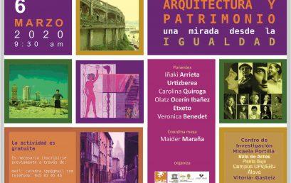 Jornada «Arquitectura y Patrimonio. Una mirada desde la Igualdad»